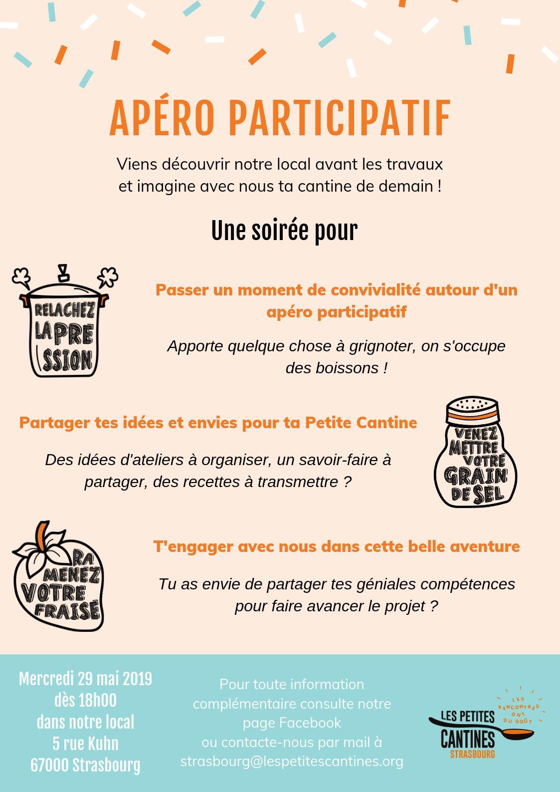 Les petites cantines invite à un apéro participatif le 29 mai